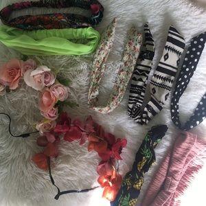 assortment of headbands/ flower crowns